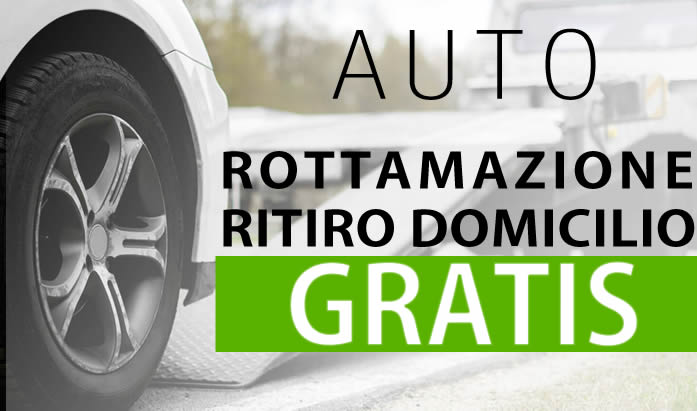 Rottamazione Montorio Romano Rottamazione e ritiro a domicilio auto gratis