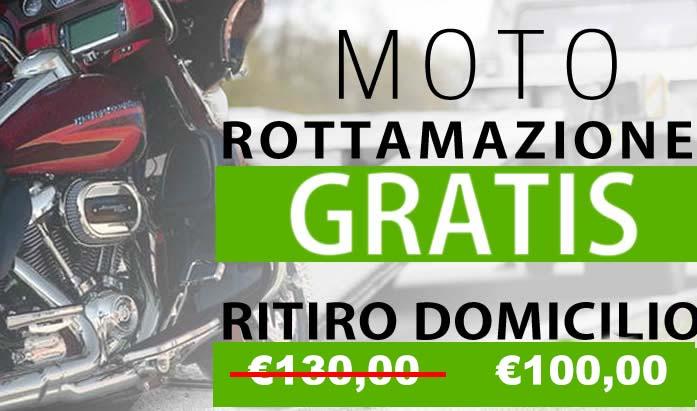Rottamazione Moto Casaletto - Rottamazione moto e scooter gratis con ritiro a domicilio scontato